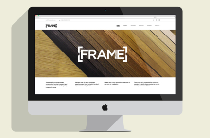 Frame London website